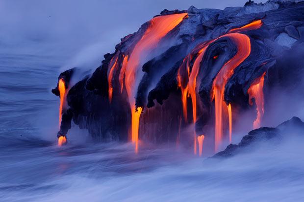 lava into sea
