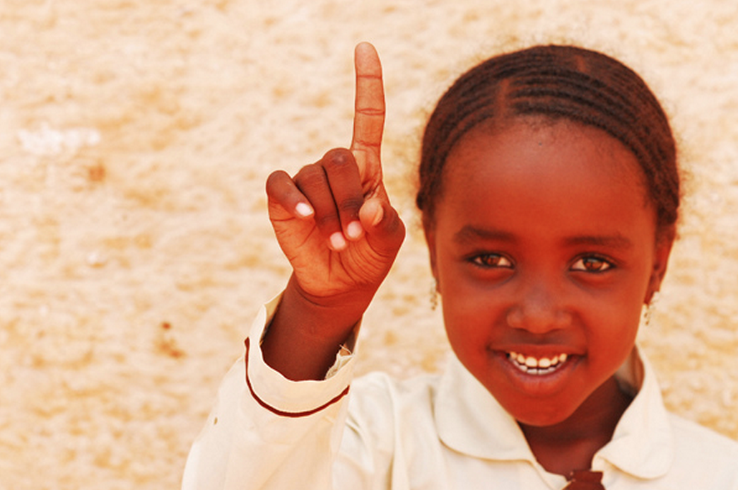 one - sudanese little girl