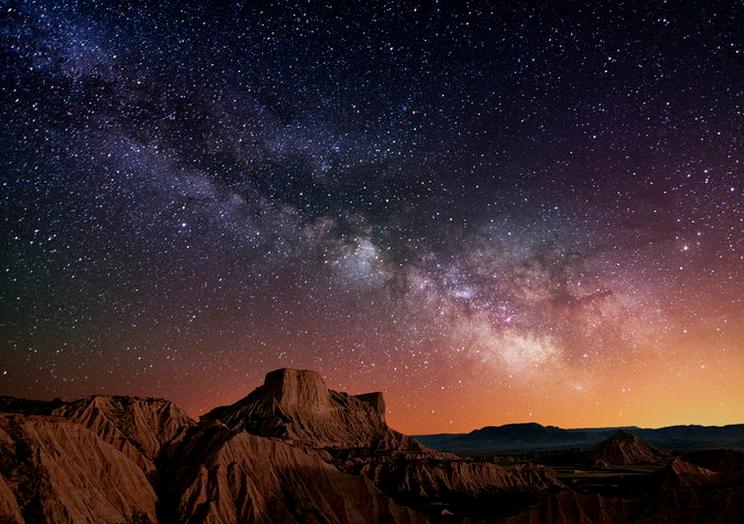 stars over desert