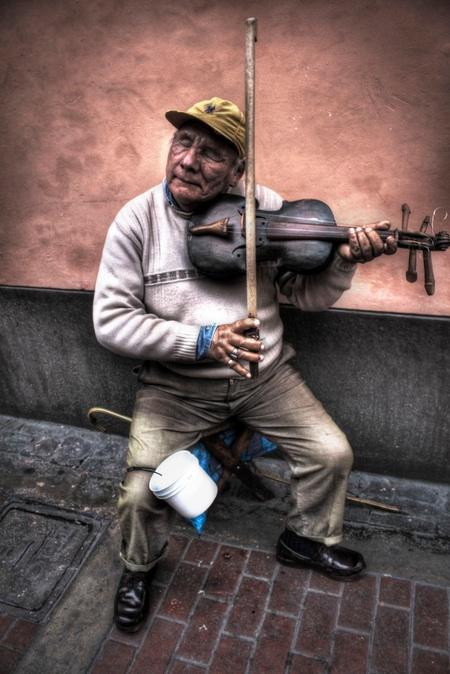 blind violinist